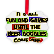 Fun & Games - Beer Goggles Ornament