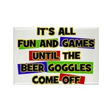 Fun & Games - Beer Goggles Rectangle Magnet