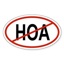 HOA Oval Decal