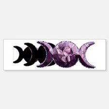 Triple Moon Bumper Bumper Bumper Sticker