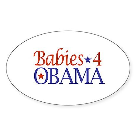 Babies 4 Obama Oval Sticker