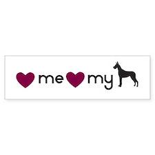 Love My Great Dane Bumper Bumper Sticker