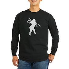 Cupid Meets Reality Long Sleeve Black T-Shirt