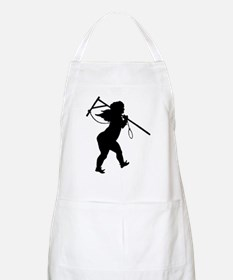 Cupid Meets Reality BBQ Apron