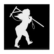 Cupid Meets Reality 2 Tile Coaster