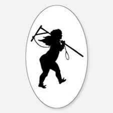Cupid Meets Reality Oval Decal