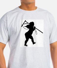 Cupid Meets Reality Ash Grey T-Shirt