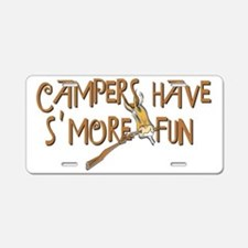 campers fun Aluminum License Plate