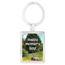 Mothers Day Card Portrait Keychain