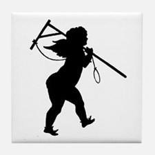 Cupid Meets Reality Tile Coaster