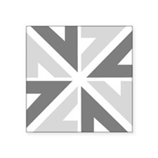 "New Zealand NZ ZN Square Sticker 3"" x 3"""