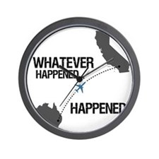 whateverhappeneddark Wall Clock
