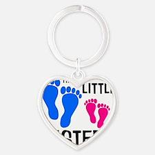 imthelittlebrother_bluefeet_pinkfee Heart Keychain