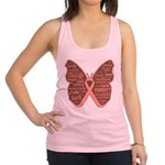 Butterfly Uterine Cancer Racerback Tank Top