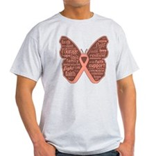 Butterfly Uterine Cancer T-Shirt
