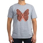Butterfly Uterine Cancer Men's Fitted T-Shirt (dar