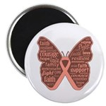 Butterfly Uterine Cancer Magnet
