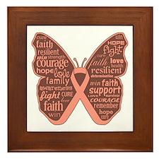 Butterfly Uterine Cancer Framed Tile