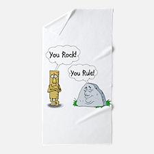 You Rock, You Rule Beach Towel