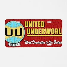 UUW_60s_poster Aluminum License Plate