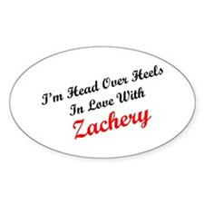 In Love with Zachery Oval Decal