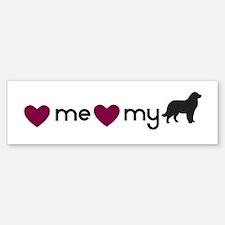 Love My Newfie Bumper Bumper Bumper Sticker
