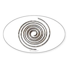 Spiral Oval Stickers