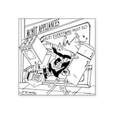 "3-7730_business_cartoon Square Sticker 3"" x 3"""