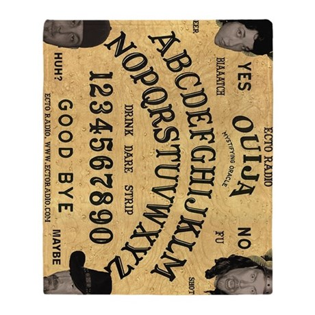 Ouija16x20_print Throw Blanket