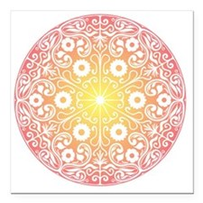"mandala Square Car Magnet 3"" x 3"""