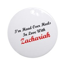 In Love with Zachariah Ornament (Round)