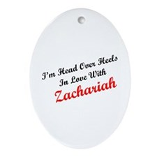 In Love with Zachariah Oval Ornament