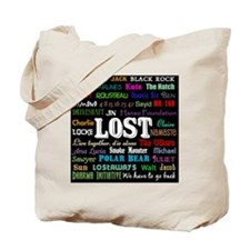LOSTcollagebutton Tote Bag