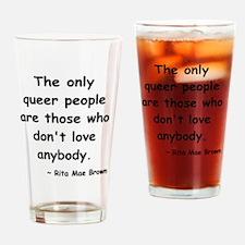 queer love short black Drinking Glass