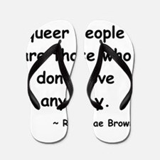 queer love short black Flip Flops