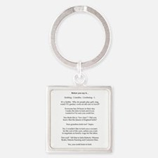 2-Before you say it Square Keychain