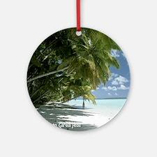 NoteCard-lagoonbeach.gif Round Ornament