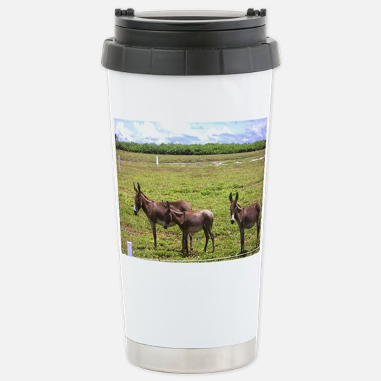 NoteCard-donkey.gif Stainless Steel Travel Mug