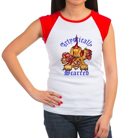 doggies-trans-11x14h-PN Women's Cap Sleeve T-Shirt