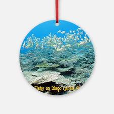NoteCard-yellowfish.gif Round Ornament