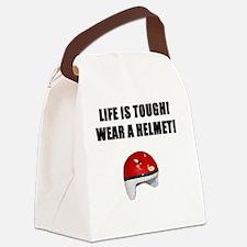 WEARAHELMETbl.gif Canvas Lunch Bag