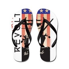 Tea Party Revolt (round) Flip Flops