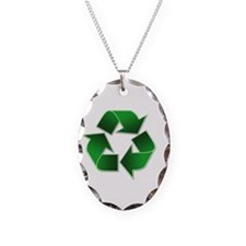 2-recycle-congress-040504 Necklace Oval Charm