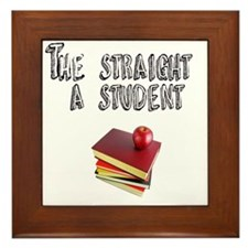 Stright A sTUDENT Framed Tile