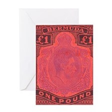 bermuda-kgv-Pound Greeting Card