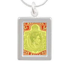 bermuda-kgv-5s Silver Portrait Necklace