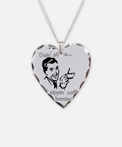 doin steps Necklace Heart Charm
