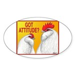 Got Attitude? Oval Sticker