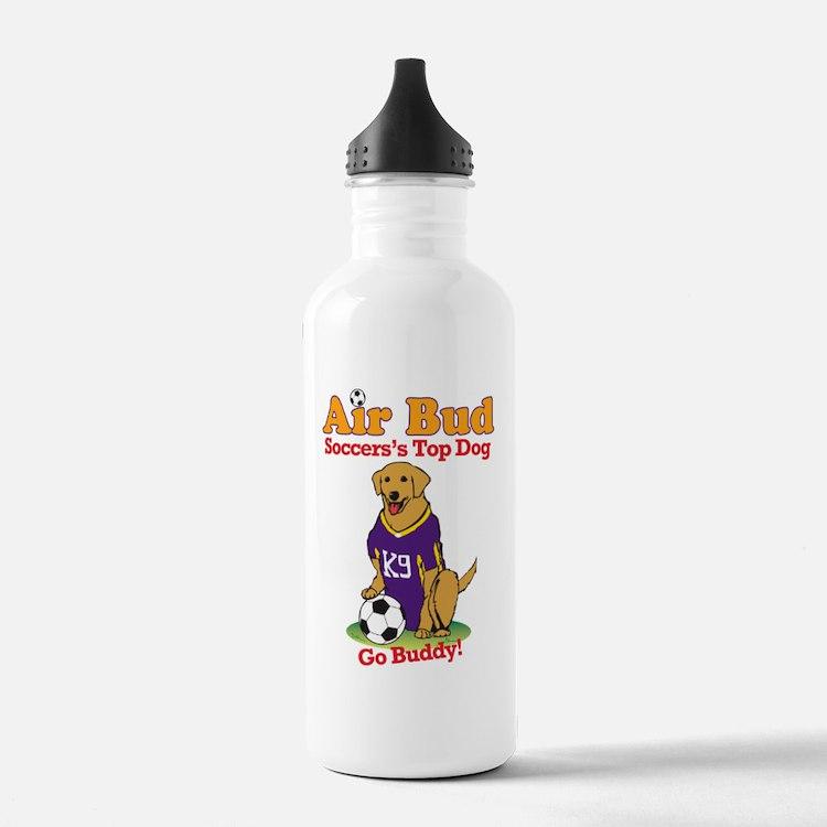 SoccerAirBud Water Bottle