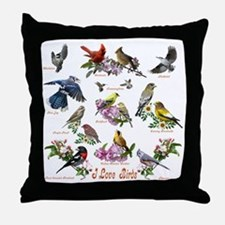 12 X T birds copy Throw Pillow